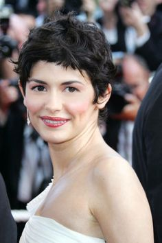 AUDREY TAUTOU, 2006 Not just anyone could replace Nicole Kidman as the face of Chanel No. 5 perfume. But Tautou did just that, with her wavy, gamine short hairstyle.