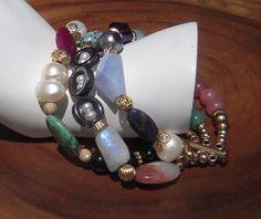 Three Strand Potpourri of Gemstones