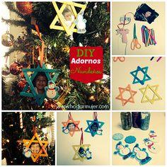 Adornos navideños con fotos #navidad #DIY