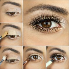Gold Smoky Eye How-To | POPSUGAR Beauty