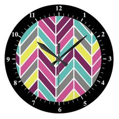 Deals Retro Chevron Yellow Color Styles Clocks you will get best price offer lowest prices or diccount coupone