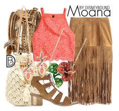 Disney Bound: Moana from Moana Disney Themed Outfits, Disney Bound Outfits, Disney Dresses, Disneyland Outfits, Princess Outfits, Disney Clothes, Disney Princess, Disney Inspired Fashion, Disney Fashion