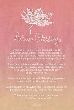 Affirmation - Autumn Blessings