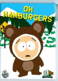 South Park Magnet Butters as Mr.Biggles Oh Hamburgers
