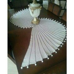 Discover thousands of images about Items similar to Fractal crochet centerpiece doily, makes unique statement. on Etsy Crochet Table Topper, Crochet Table Runner Pattern, Crochet Doily Rug, Crochet Towel, Crochet Doily Patterns, Crochet Round, Thread Crochet, Filet Crochet, Diy Crafts Crochet