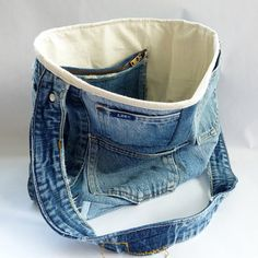Upcycled Denim Tote Bag 001