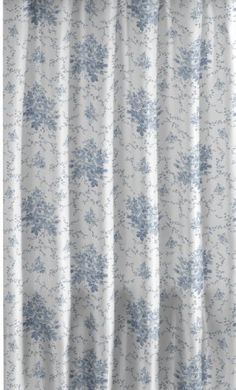 6974ea16ac9 Laura Ashley EMILIE Blue Yellow Floral SHOWER CURTAIN in 2019 ...