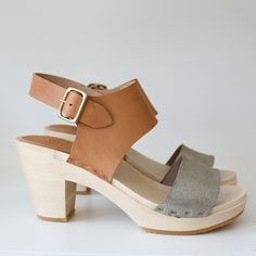 Color-block Miranda sandal | Bryr clogs