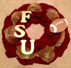 Florida State University FSU Seminoles Wreath 2 - fear the spear - go noles - garnet and gold - Tallahassee Florida
