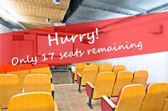 HURRY!! Only 17 seats remaining.  Book Your Seat Now