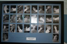 Silent Auction Idea - Praying hands photos. Could also put all the photos in a mosaic cross or outline a cross