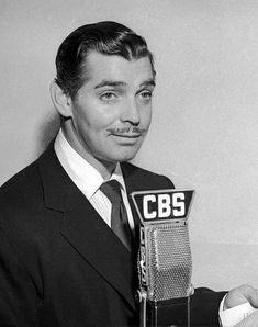 """Clark Gable, reprising his 1932 MGM screen role in """"Red Dust"""", adapted for the CBS Radio program Golden Age Of Hollywood, Hollywood Stars, Old Hollywood, It Happened One Night, Rhett Butler, Star Wars, Carole Lombard, Clark Gable, Grown Man"""