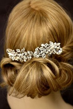 6 inches long Veil Comb, Bridal comb, Crystal, Wedding Accessory, Bridal hair comb,leaves, Greek, Tiara, Swarovski, Ivory pearls Ask a Question    $99.00