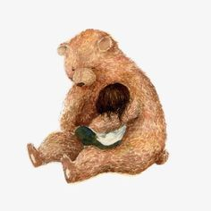 Bear holding a child, Bear, Animal, Girl PNG Image Love Bears All Things, Bear Art, Cute Bears, Cute Illustration, Spirit Animal, Illustrations Posters, Collages, Character Design, Lion Sculpture