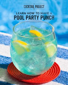 Whether you're lounging poolside, or dreaming of summer, this vodka lemonade punch is the ultimate warm-weather drink. Pinnacle® vodka combines with citrus-flavored blue curacao and lemonade to create an eye-catching cocktail you and your guests won't want to put down. Find this recipe and other poolside drinks at TheCocktailProject.com.