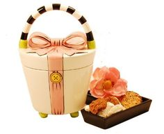 Ceramic Handbag Cookie Jar by Tasteful Treats & Treasures Gift Baskets