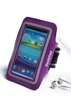 DandyCase Non-Slip Protective Gym Jogging Sports Armband Case Cover for Samsung Galaxy S4 & Galaxy S3 (i9300 / i9500) (Purple). DandyCase custom made from high quality neoprene with reflective banding. Stylish and exquisite armband case cover for Galaxy S4 & Galaxy S3, it can keep your phone with you but out of the way when you exercise. Allows convenient access to all functions, cameras, buttons, and ports of your phone. Perfect fits for the New Samsung Galaxy S4 & S3 - AT&T, Sprint...