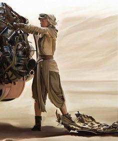 Rey fixing things