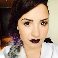 Demi Lovato Beautiful Purple Lips: 'I Must Love Myself Before Anyone Else Can Love Me' - http://oceanup.com/2014/07/01/demi-lovato-beautiful-purple-lips-i-must-love-myself-before-anyone-else-can-love-me/