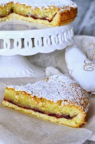 Torta cappuccina (almond and cherry tart) Italian Cake, Italian Desserts, Italian Recipes, Torte Cake, Cake & Co, Sweet Recipes, Cake Recipes, Dessert Recipes, Cake Cookies