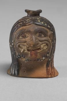 An ancient Greek ceramic vessel portraying a gorgoneion (the Gorgon Medusa's head). (Kunsthistorisches Museum Vienna)