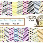 Free!!! This set of polka dot paper can be used in your classroom or in products you sell.The set includes 47 individual png files.  Each file is a diffe...