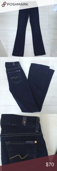 Like New 7 for All Man Kind Dark wash jeans Jeans are in amazing condition. Barely worn. Style is kimmie mid rise boot cut. 7 for all Mankind Jeans Boot Cut