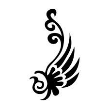 This large flower stencil is perfect to create your sparkling body art.   Glitter Tattoo ...