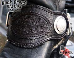 Spur Straps Hell's Comin' Wyatt Earp Old West, Handmade Arizona USA