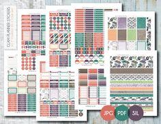Free Monthly Printable Planner Stickers Set - Floral Doodle - Erin Condren