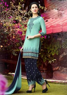 $26.90 Aqua Cotton Punjabi Suit 56201