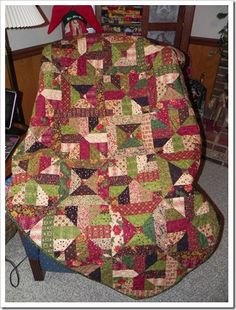 3 dudes quilt idea-made from a jelly rolly