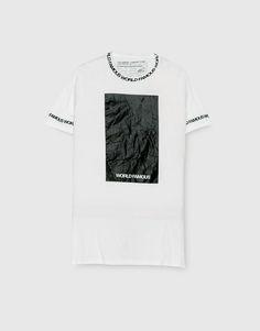 Pull&Bear - man - clothing - t-shirts - world famous text t-shirt - white - 09244542-I2016