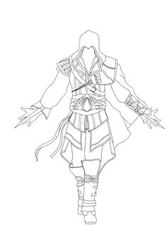 free Assassin Creed coloring pages