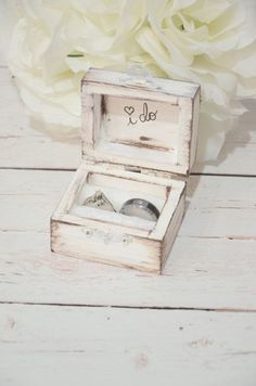 Rustic I DO ring bearer box, personalized ring box, personalized I do ring box, rustic wedding ring box, distressed I do ring box Wedding Bells, Fall Wedding, Rustic Wedding, Dream Wedding, Wedding Rings, Diy Wedding Ring Box, Wedding Jewelry, Wedding Dress, Ring Bearer Box