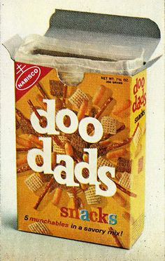 Nabisco doo dads. This packaging is before my time, but the mix is still the same. I wish these weren't discontinued - I LOVED eating this for a snack.
