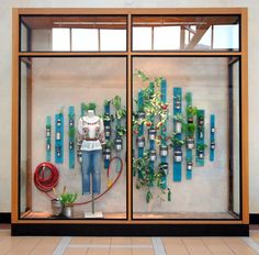 Anthropologie window... but would love to do something like this with succulents.