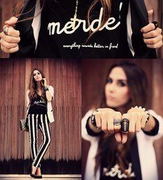 Merde! everything sounds better in french (by Flávia Desgranges van der Linden) http://lookbook.nu/look/4691939-merde-everything-sounds-better-in-french