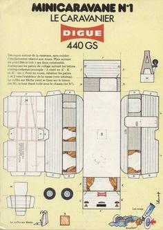 mini caravane paper