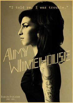 Amy Winehouse Classic Music Wall Sticker Collection - 42X30CM_31 / D113_31