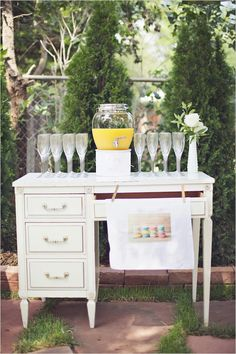 Mimosa Bar - I knew I wanted it to be relaxed and our backyard was the perfect location. We spent the whole summer planting lots of flowers and fixing it up. On the day of it was actually suppose to rain, but the sun came out and the day was perfect.  Read more at http://www.weddingchicks.com/2012/09/12/bridal-shower-brunch-ideas/#MX2Dsv2juSMFOH21.99