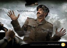 """""""Por lo general, la víctima es inocente.  Conduzca con cuidado, salvar una vida!"""". CCVR (The Centre Of Consultancy For The Road Victims): Road Saddam"""