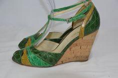 Prada Green Wedges