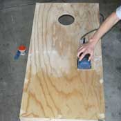 Tips for painting and sanding corn hole board