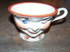 Novelty Winking Tea Cup - Staffordshire England (Lipton Tea)