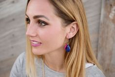 Dasha Teardrop Tassel Earring
