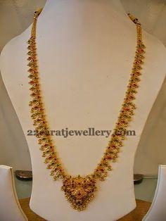 Jewellery Designs: Simple Gold Mohana Mala