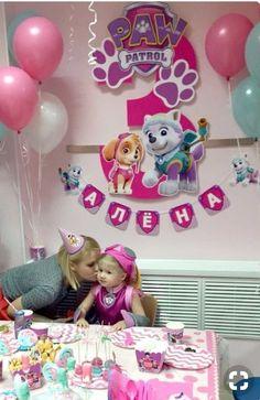 Baby Girl Birthday, Third Birthday, 4th Birthday Parties, Birthday Party Decorations, Sky Paw Patrol, Paw Patrol Party, Paw Patrol Birthday Girl, Cumple Paw Patrol, Mavis