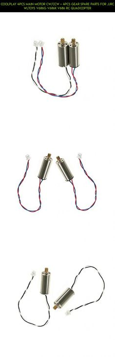 Coolplay 4Pcs Main Motor CW/CCW + 4Pcs Gear Spare Parts for JJRC Wltoys V686G V686K V686 RC Quadcopter #wltoys #camera #gear #racing #plans #products #fpv #cover #technology #kit #shopping #gadgets #drone #tech #parts