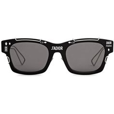 Christian Dior J-ADIOR Black Wayfarer-style Sunglasses ($635) ❤ liked on Polyvore featuring accessories, eyewear, sunglasses, wayfarer glasses, cut out sunglasses, wayfarer style sunglasses, wayfarer style glasses and christian dior sunglasses